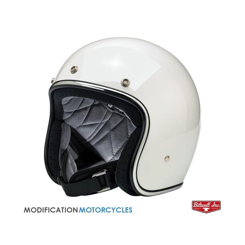 Casque Jet Bell Custom 500 Carbon RSD Checkmate Black/Gold XS Bell Helmets pour Café Racer et